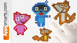 Pango, Fox, Squirrel, Piggy and Bunny from Pango Storytime Games (tutorial for preschool kids)