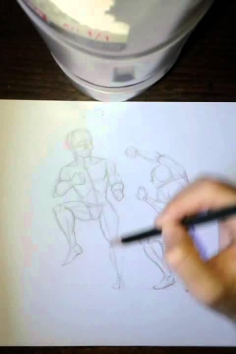 Como dibujar figura humana en movimiento TIPS FACIL parte 3