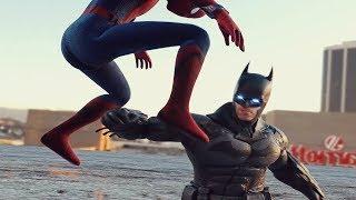 THANOS vs GOKU v COSMIC SPIDERMAN v BATMAN v SUPERMAN Fight Compilation