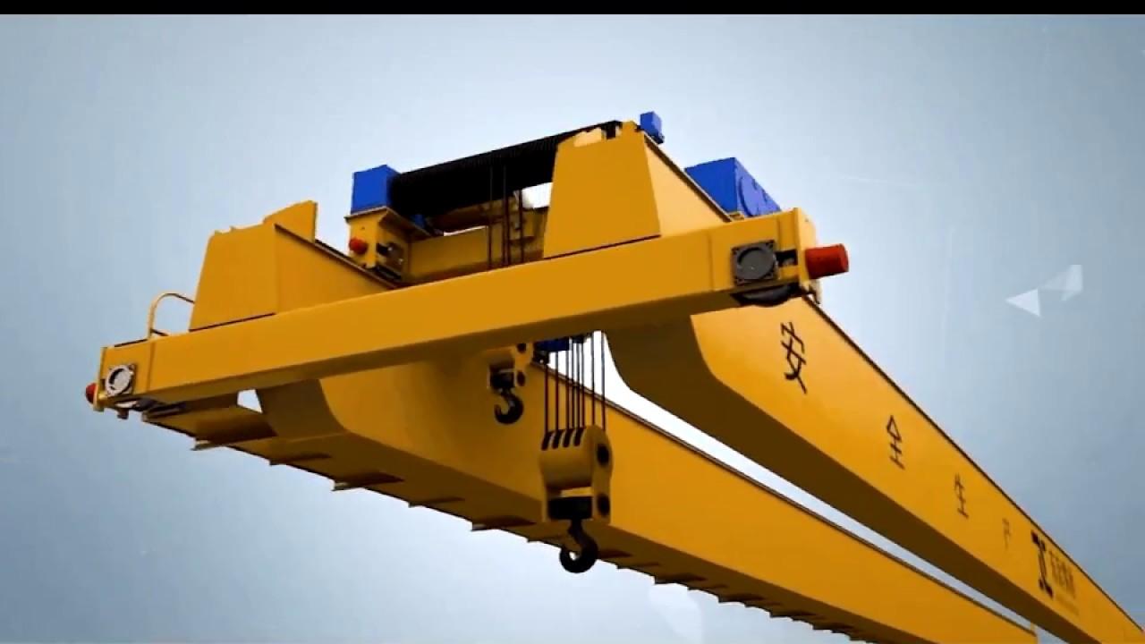 hight resolution of crane parts overhead crane parts assembly 3d presentation