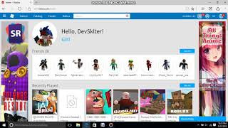 MY PROFILE AND MY OWN GAMES ON ROBLOX!!!