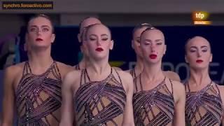 Russian Federation (RUS) Team Technical Final Glasgow European Championships 2018