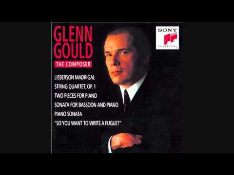 Glenn Gould - Piano Sonata (Unfinished) Mvt.1 - Glenn Gould: The Composer - (HQ)