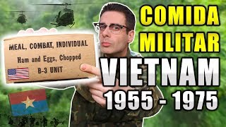 Probando COMIDA MILITAR USADA EN VIETNAM 1955-1975   MRE Estados Unidos B-3 UNIT