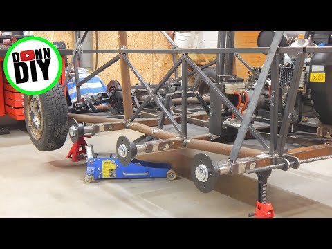 Tracked Amphibious Vehicle Build Ep. 13 - Hull Steel Frame Fabrication & Electrolysis Rust Removal