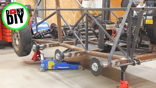 Tracked Amphibious ATV Build PART 13 - Hull Steel Frame Fabrication & DIY Electrolysis Rust Removal