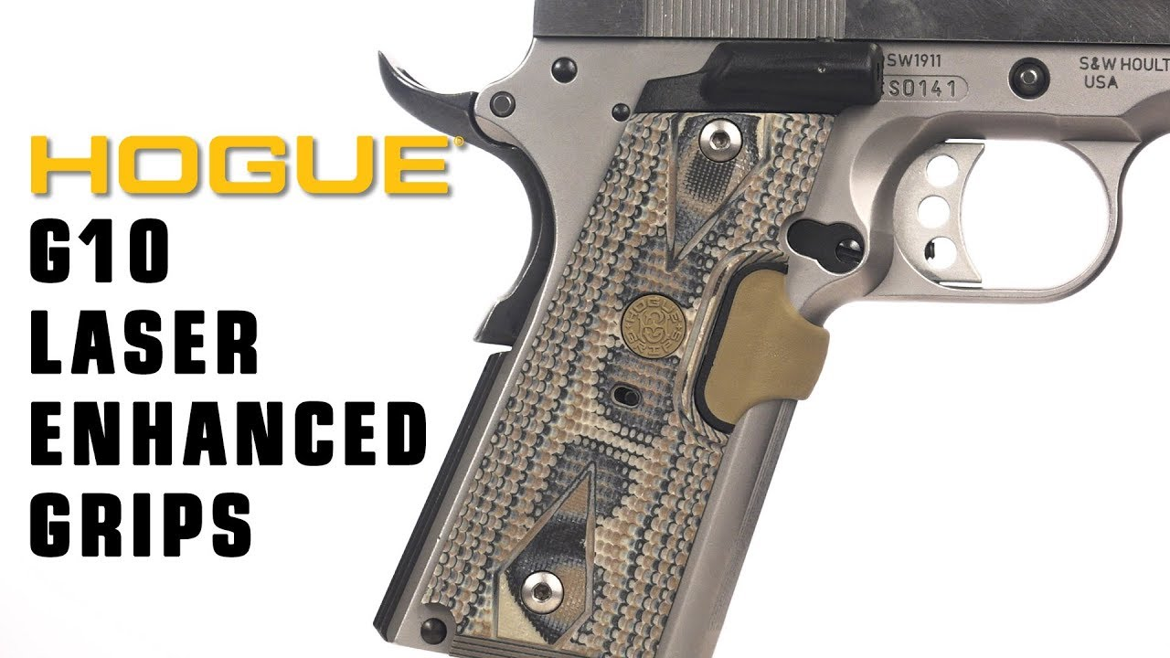 Hogue® Laser Enhanced G10 Grips for 1911 Government and Officers models