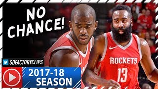 Chris Paul 23 Pts & James Harden 21 Pts Full Highlights vs Nuggets (2017.11.22) - TOO EASY!