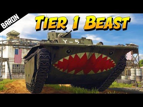 TIER 1 BEAST!  LVT(A)-1 Seal Clubber  (War Thunder Tanks Gameplay)