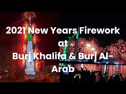 2021 New Year Celebrations in Dubai | Burj Khalifa and Burj-Al-Arab