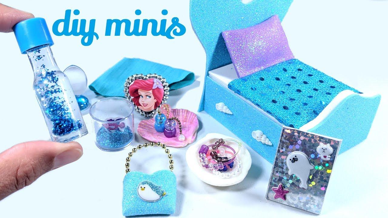 DIY The Little Mermaid Miniatures - Liquid Lava Lamp, Aquarium, & More!