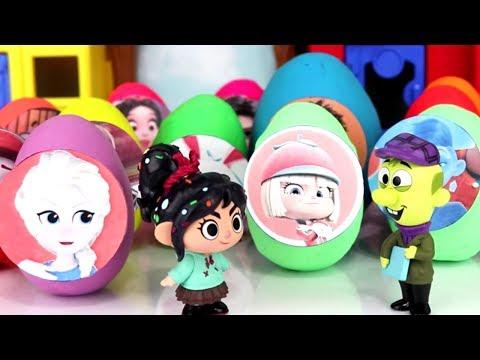 15 Play-doh Egg Surprises feat. Ralph Breaks the Internet (Wreck-it-Ralph 2), Vanellope