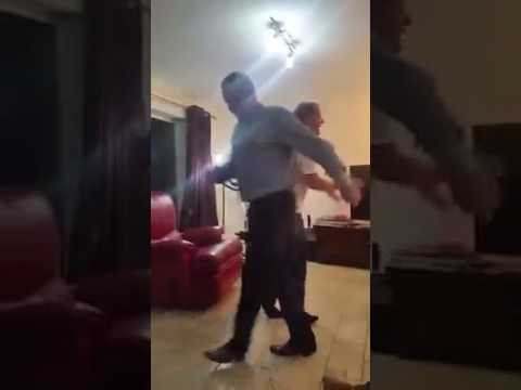 Guy Knocks Over Television While Dancing