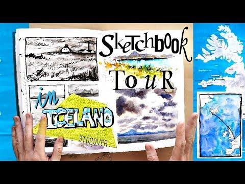 Travel Journal SKETCHBOOK TOUR in ICELAND!