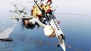 GTA 5 - ANGRY PLANES 1.2 é uma guerra INACREDITÁVEL no céu !