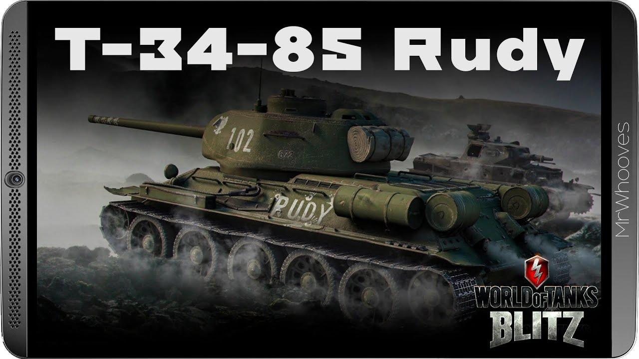 Fajowe Czołgi Premium #58 - T-34-85 Rudy - YouTube