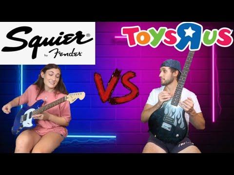 Toys R Us Guitar VS Squier Fender Mustang Challenge!