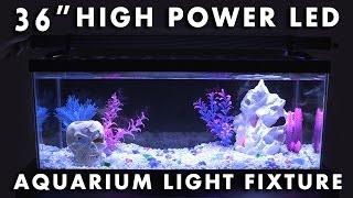 led aquarium light fixture 36 high power