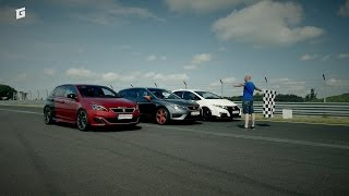 HOT HATCH WAR - ENG SUB - HONDA TYPE R vs SEAT LEON CUPRA ST 290 vs PEUGEOT 308 GTi