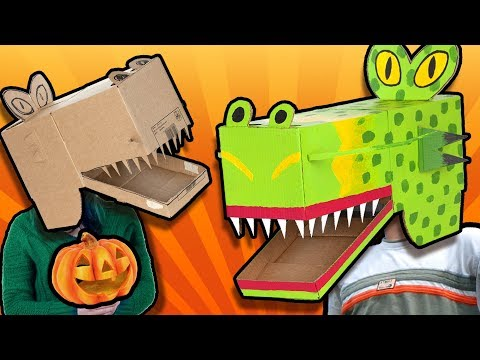 DIY Halloween Costume - Monster Mask |  Easy Cardboard Crafts to Make at Home