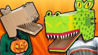 DIY Halloween Costume - Monster Mask    Easy Cardboard Crafts to Make at Home