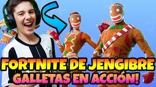 PLAYING *FORTNITE WITH CHRISTMAS SKINS SWEET SAQUEADOR AND LIVE JENGIBRE ARTILLERA