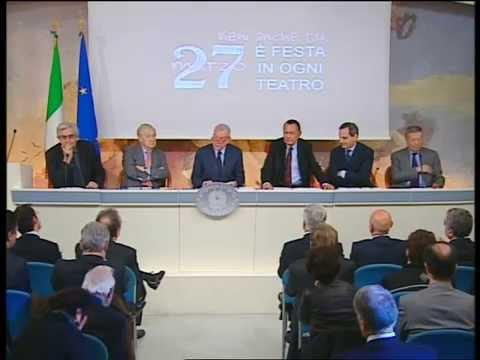 Giornata Mondiale del Teatro. Conferenza Stampa Palazzo Chigi