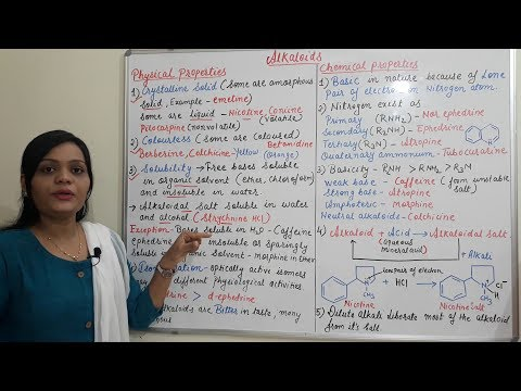 Physical And Chemical Properties Of Alkaloids (Alkaloid Part-2) Hindi