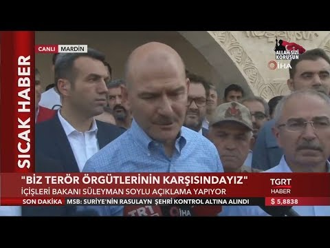 """Bakan Soylu: """"Mardin'e 300'e Yakın Havan Mermisi Atıldı"""""""