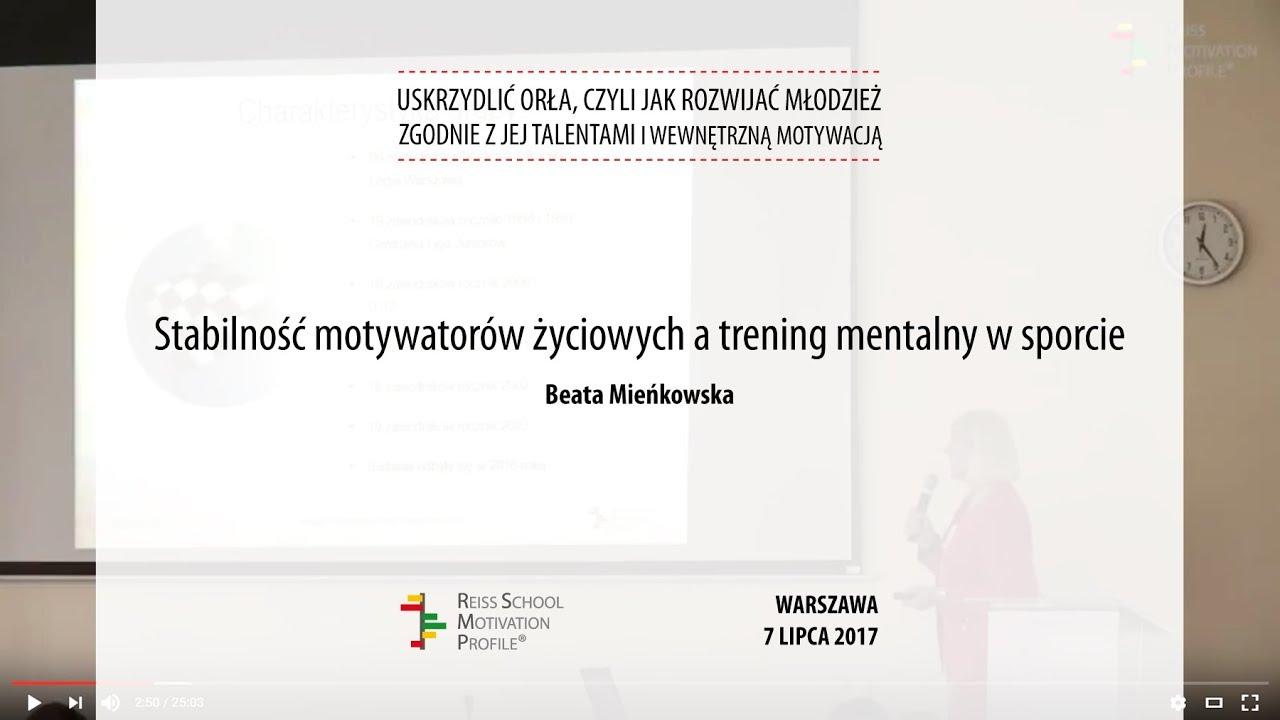 Stabilność Motywatorów życiowych A Trening Mentalny W Sporcie