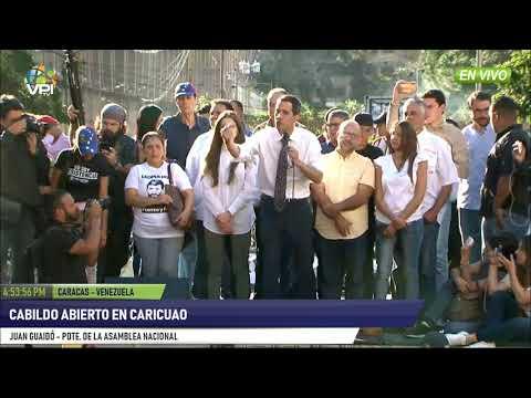 Venezuela - Presidente de la AN, Juan Guaidó, dijo presente en Cabildo abierto de Caricuao - VPItv