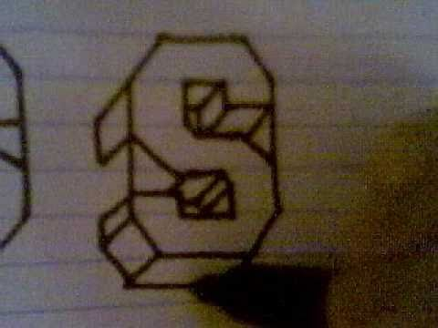 HOW TO DRAW 3D LETTERS ( S ) - YouTube