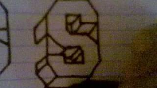 HOW TO DRAW 3D LETTERS ( S )