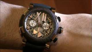 Repeat youtube video Romain Jerome Steampunk Chrono Watch Review