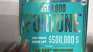 FORTUNE, instant scratch ticket, Ontario lottery and gaming, OLG