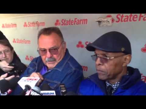 Dick Butkus, Gayle Sayers on Wrigley Field