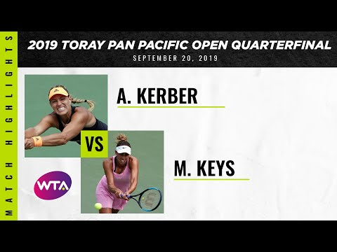 Angelique Kerber vs. Madison Keys | 2019 Osaka Quarterfinal | WTA Highlights