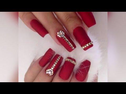 Red Nail Polish & Diamond Nail Art (2018)