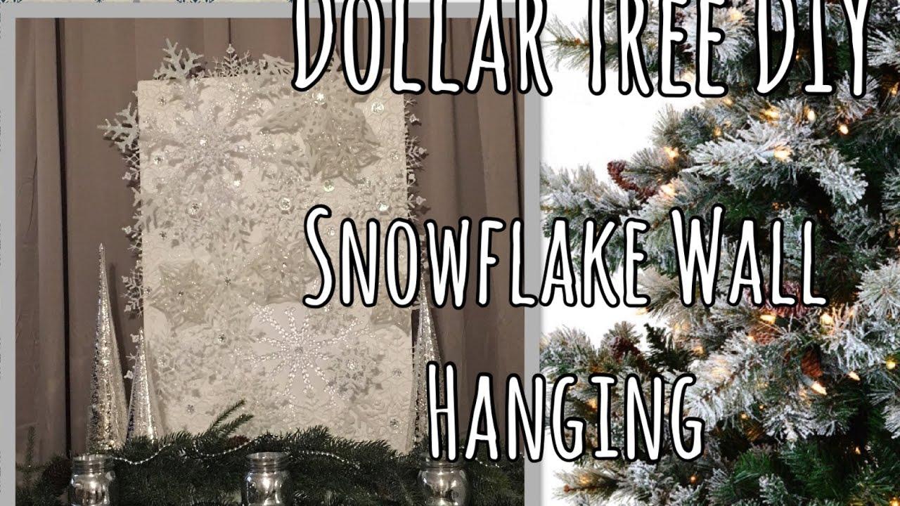 Dollar Tree Christmas Diy Large Snowflake Wall Art Holiday Decor The Green Notebook