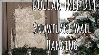 Dollar Tree Christmas DIY - Large Snowflake Wall Art   Holiday Decor   The Green Notebook