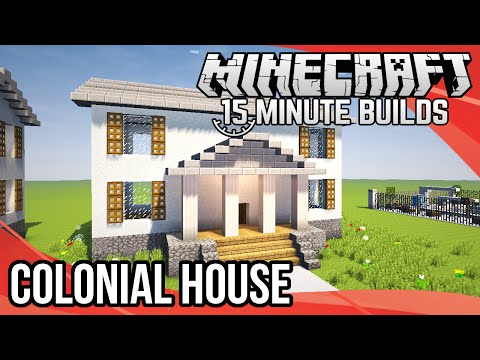 Minecraft 15-Minute Builds: Colonial House