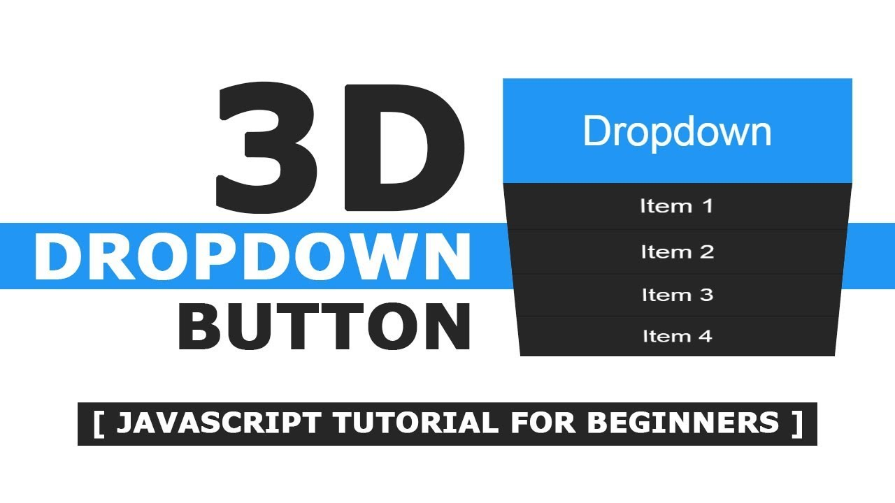 Dropdown Button onClick with Html, CSS and Javascript - Simple jQuery  Tutorial For Beginners