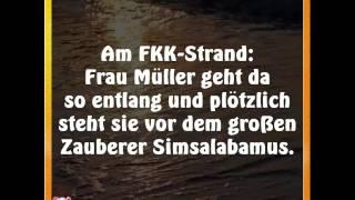 Witz:  Am FKK Strand