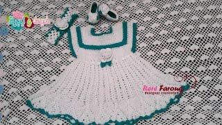 كروشيه فستان بنوته عمر سنه ل 3 سنوات\خيط وابره \ Crochet Baby Dress