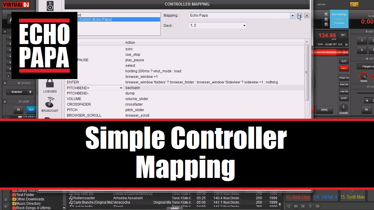 Virtual DJ 8: Simple Controller Mapping
