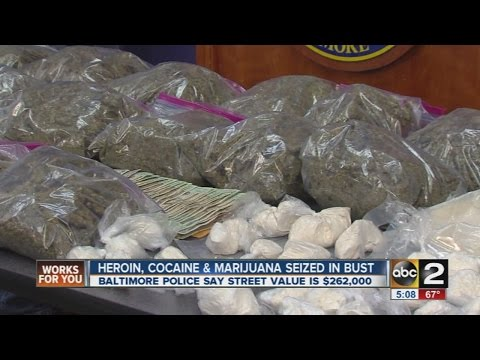 Heroin, cocaine, marijuana seized in Baltimore drug bust