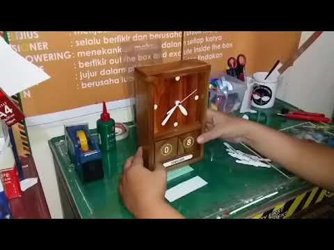 Unboxing DIY Making Clock and Calendar Wood
