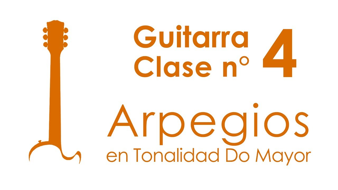 Arpegios en tonalidad Do mayor | Guitarra, Clase 4