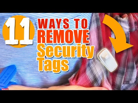 Remove Security Tags from Clothing - PART #2 - ELEVEN Ways Tested