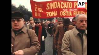 UNUSED 21 2 81 TRADE UNION DEMONSTRATIONS IN ROME